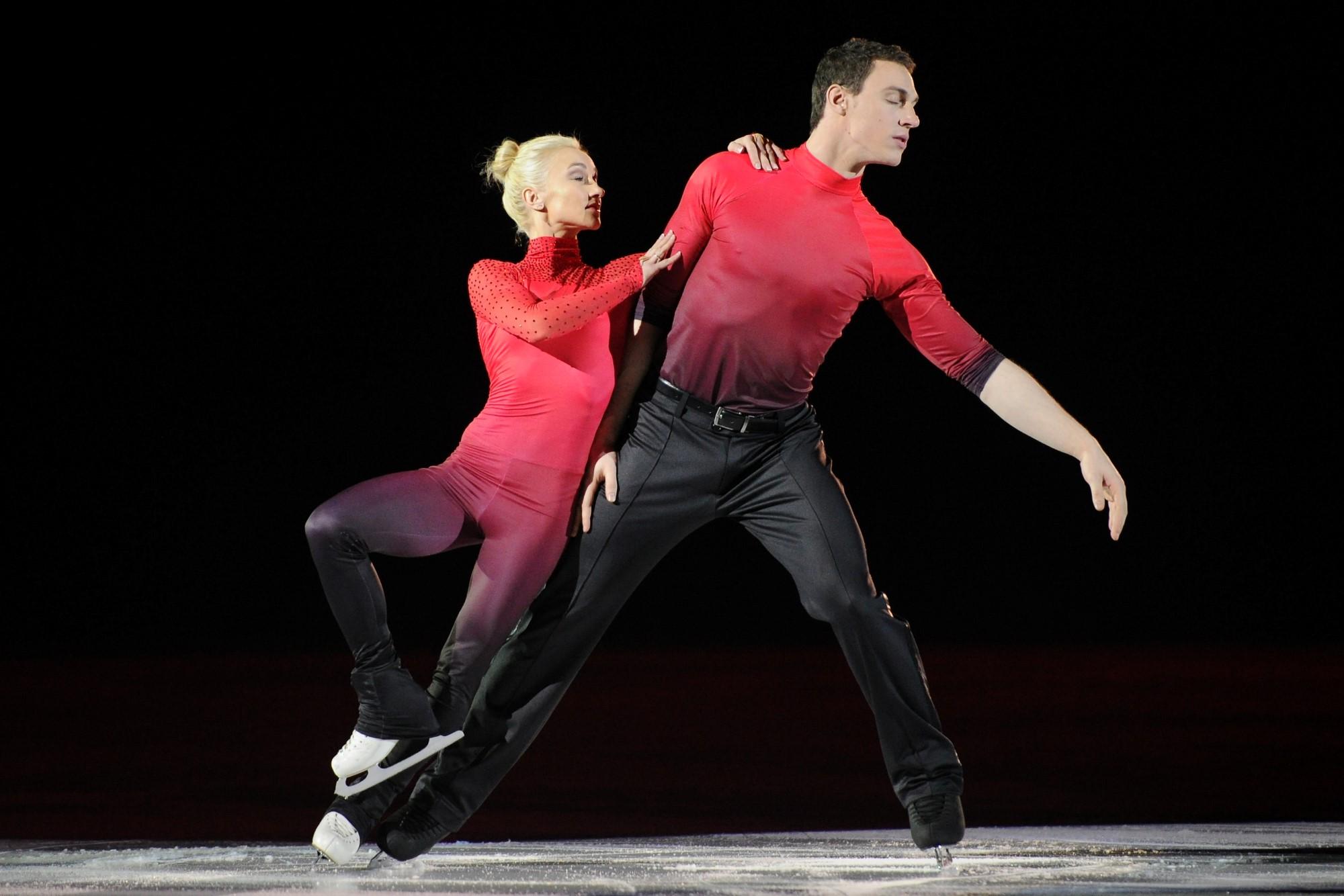 Aljona Savchenko und Bruno Massot, Vizeweltmeister im Paarlauf 2017 und Olympiafavoriten 2018 Bildquelle: Daniel Weiss, Spotlight Productions